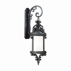 Troy Four Light Old Bronze Wall Lantern