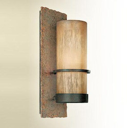 Troy One Light Bamboo Bronze Outdoor Wall Light