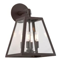 Troy Four Light River Valley Rust Outdoor Wall Light