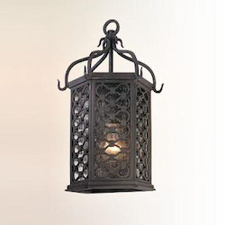 Troy One Light Old Iron Wall Lantern