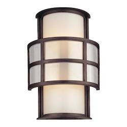 Troy Two Light Graphite Outdoor Wall Light