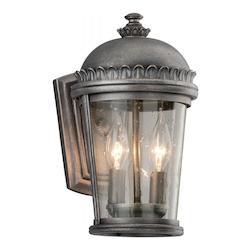 Troy Two Light Aged Pewter Wall Lantern