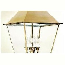 Troy Four Light Natural Aged Brass Hanging Lantern
