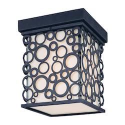 Troy One Light French Iron Outdoor Flush Mount
