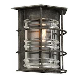 Troy One Light Aged Pewter Outdoor Wall Light