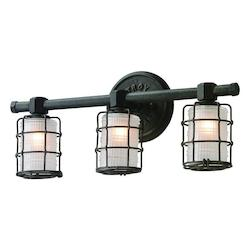 Troy Three Light Vintage Bronze Vanity