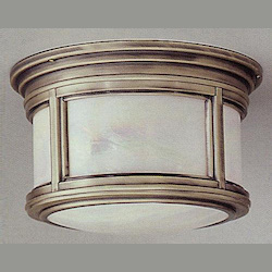 Troy One Light Oil Rubbed Bronze Outdoor Flush Mount