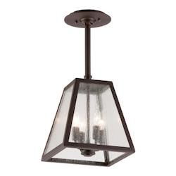 Troy Four Light River Valley Rust Outdoor Pendant