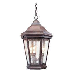Troy One Light Bronze Patina Hanging Lantern