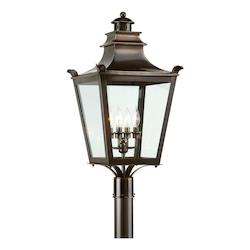 Troy Four Light English Bronze Post Light