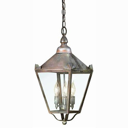 Troy Three Light Natural Rust Hanging Lantern