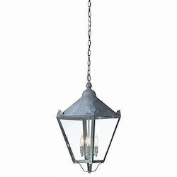 Troy Four Light Natural Rust Hanging Lantern