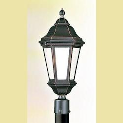 Troy Two Light Bronze Patina Post Light