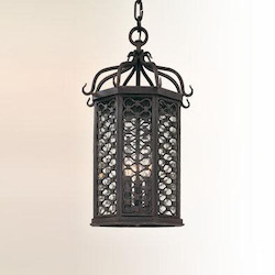 Troy One Light Old Iron Hanging Lantern
