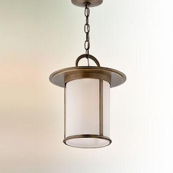 Troy One Light Antique Brass Hanging Lantern