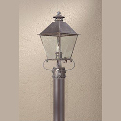 Troy One Light Nat Antique Brass Post Light