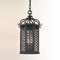 Troy Three Light Old Iron Hanging Lantern
