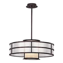 Troy One Light Graphite Drum Shade Pendant
