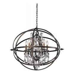 Troy 5 Light Pendant With Vinatge Bronze Finish