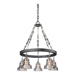 Troy Five Light Old Silver Down Chandelier