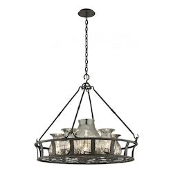 Troy Six Light Chianti Bronze Up Pendant