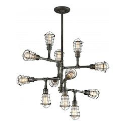 Troy 12Lt Chandelier