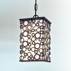 Troy One Light French Iron Outdoor Pendant
