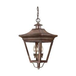 Troy Three Light Charred Iron Hanging Lantern