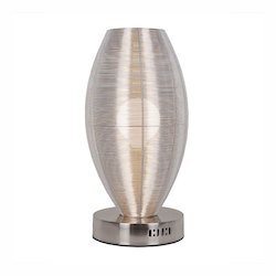 Lenox 1 Light Round Silver Table Lamp