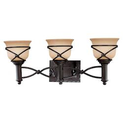 Minka-Lavery Aspen Bronze 3 Light Bathroom Vanity Light From The Aspen Ii Collection