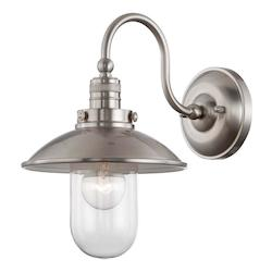 Minka-Lavery Open Box Brushed Nickel 1 Light Barn Light Wall Sconce From The Downtown Edison Collection