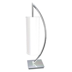 Van Teal Elite Collection 1-Light 30In. Chrome Table Lamps