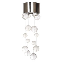 Van Teal Rain Drops Collection 1-Light 4In. Satin Nickel Flush Mount