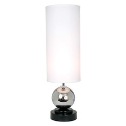 Van Teal Around The World Collection 1-Light 32In. Chrome / Black Table Lamp