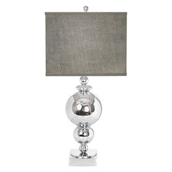 Van Teal Around The World Collection 1-Light 29In. Chrome Table Lamps