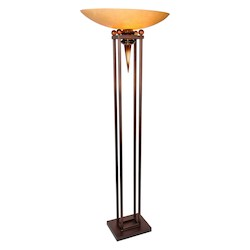 Van Teal You Will Remember Collection 1-Light 70In. Copper / Black Floor Lamp