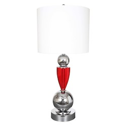 Van Teal Fantasy Collection 2-Light 35In. Chrome Table Lamp