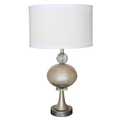 Van Teal 1-Light 29In. Brushed Nickel With Antique Stain Table Lamps
