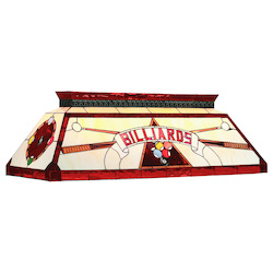 RAM Gameroom 44In. Tiffany Billiard Light-Red