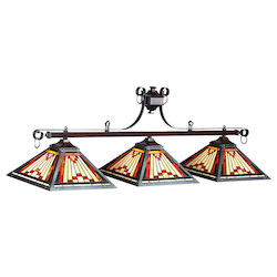 RAM Gameroom Laredo-54In. 3Lt Billiard Light