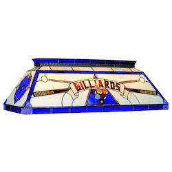 RAM Gameroom 44In. Tiffany Billiard Light-Blue