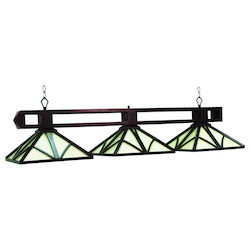 Chateau 56In. 3 Light Billiard Light - English Tudor Finish