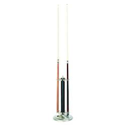 24In.H Pool Cue Holder-Lthr Blk