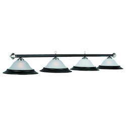 82In. 4 Lt Billiard Light-Matte Black/St