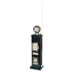 40In. H Texaco Cd & 6 Cue Holder