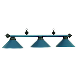 54In. 3Lt Billiard Light- Matte Blue
