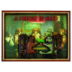 Pub Sign-Poker Dogs-A Friend In Need