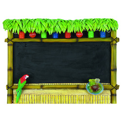 23In. H 30In.W Chalkboard Tiki Bar