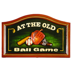 At The Old Ball Game Pub Sign