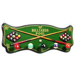 Pub Sign-Billiards Coat Rack